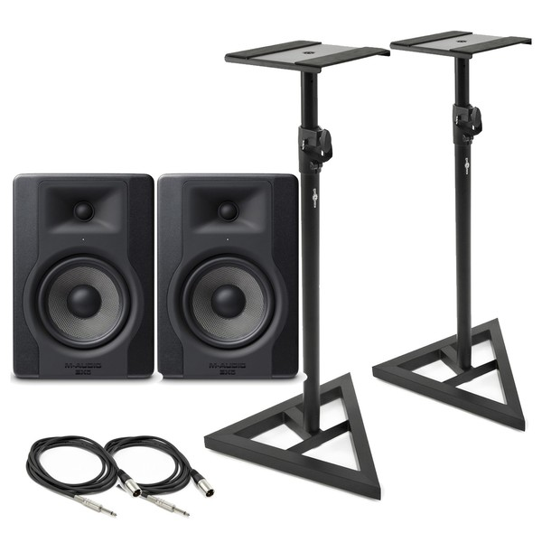 M-Audio BX5-D3 Monitor Pair with Stands & Cables - Main