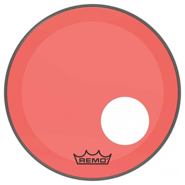 Remo Powerstroke 3 Colortone Red 18'' Ported Bass Drum Head