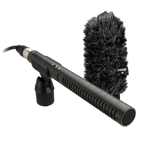 Rode NTG-2 Dual Powered Shotgun Condenser Mic With WS6 Windshield - Bundle