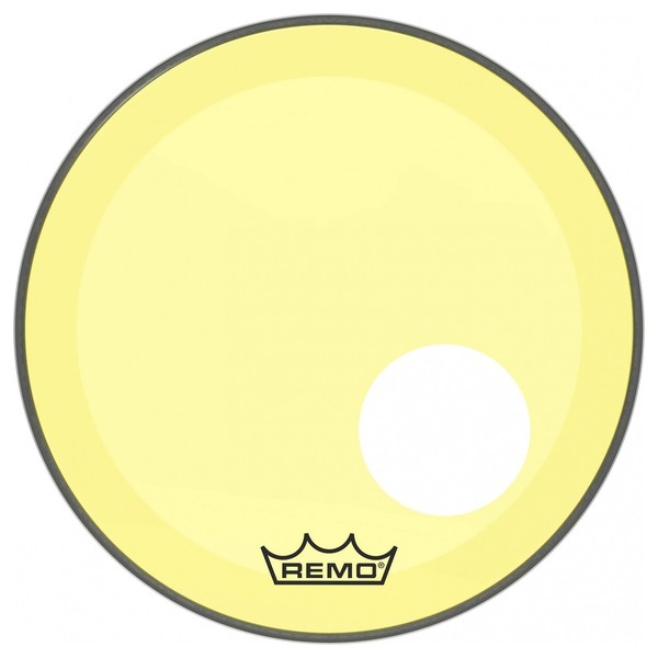 Remo Powerstroke 3 Colortone Yellow 18'' Ported Bass Drum Head