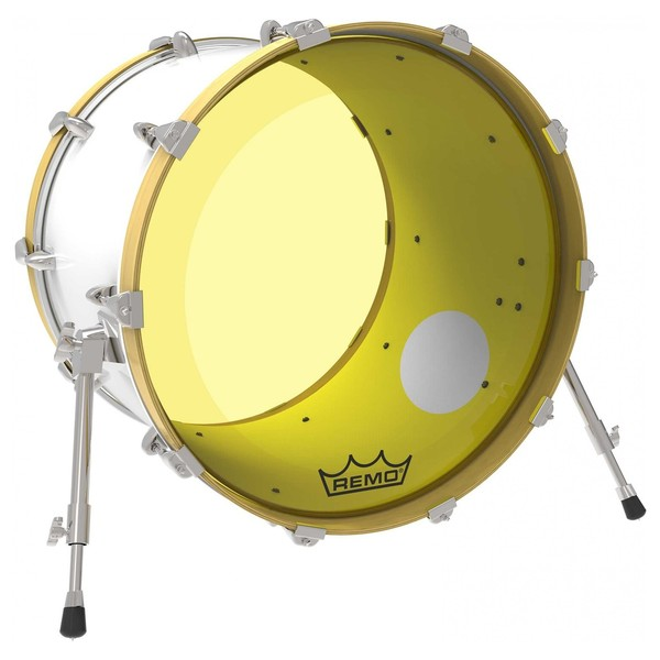 remo powerstroke 3 colortone yellow 22 39 39 ported bass drum head at gear4music. Black Bedroom Furniture Sets. Home Design Ideas