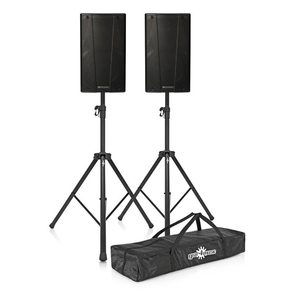 dB Technologies B-Hype 12 Active Speaker Pair with Free Stands