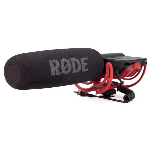 Rode VideoMic-R Shotgun Condenser Microphone with Rycote Suspension - Angled