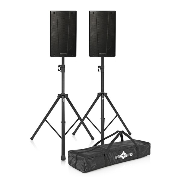 dB Technologies B-Hype 10 Active Speakers Pair with Free Stands