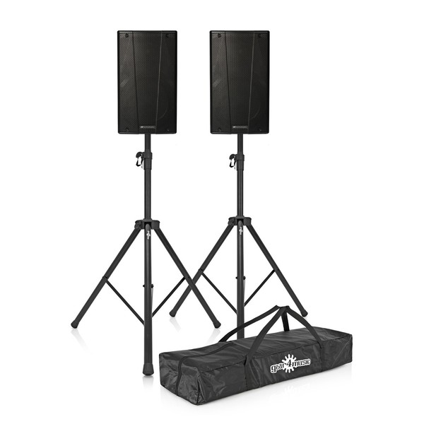 dB Technologies B-Hype 8 Active Speakers Pair with Stands
