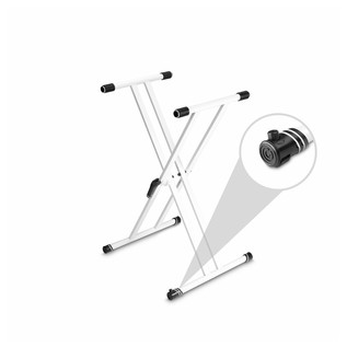 Gravity KSX2 Double X-Form Keyboard Stand, White Varifoot Zoomed