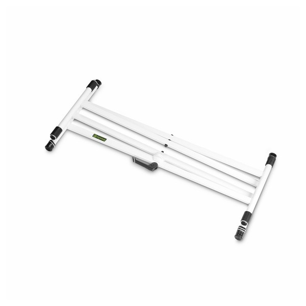 Gravity KSX2 Double X-Form Keyboard Stand, White Collapsed