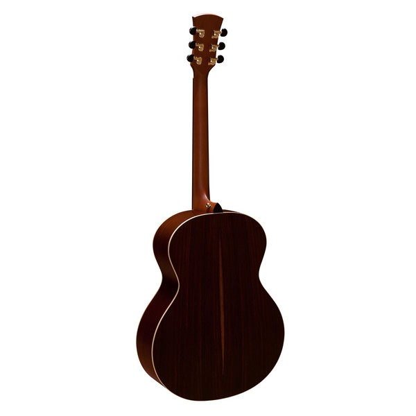 Faith Neptune Baby Jumbo Acoustic, Hi Gloss Natural Back View