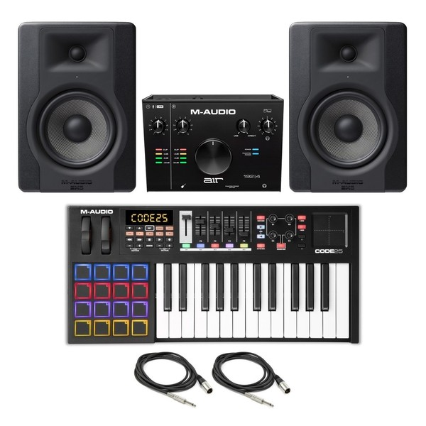 M-Audio Code 25 (Black) Studio Bundle - Full Bundle