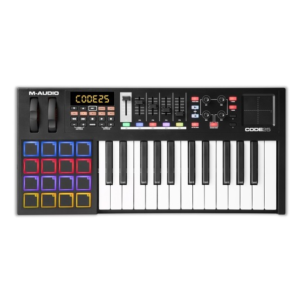 M-Audio Code 25 Controller Keyboard, Black - Top