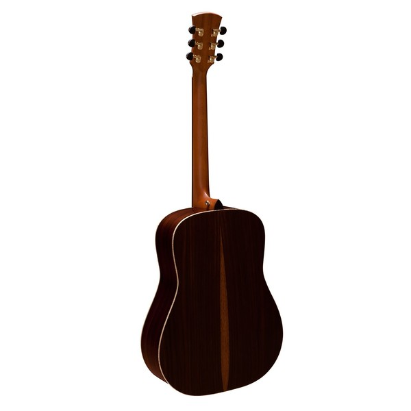 Faith Saturn Dreadnought Acoustic, Hi Gloss Natural Back View