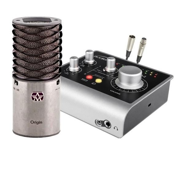 Aston Microphones Origin Cardioid Condenser Pack, Audient Interface - Bundle