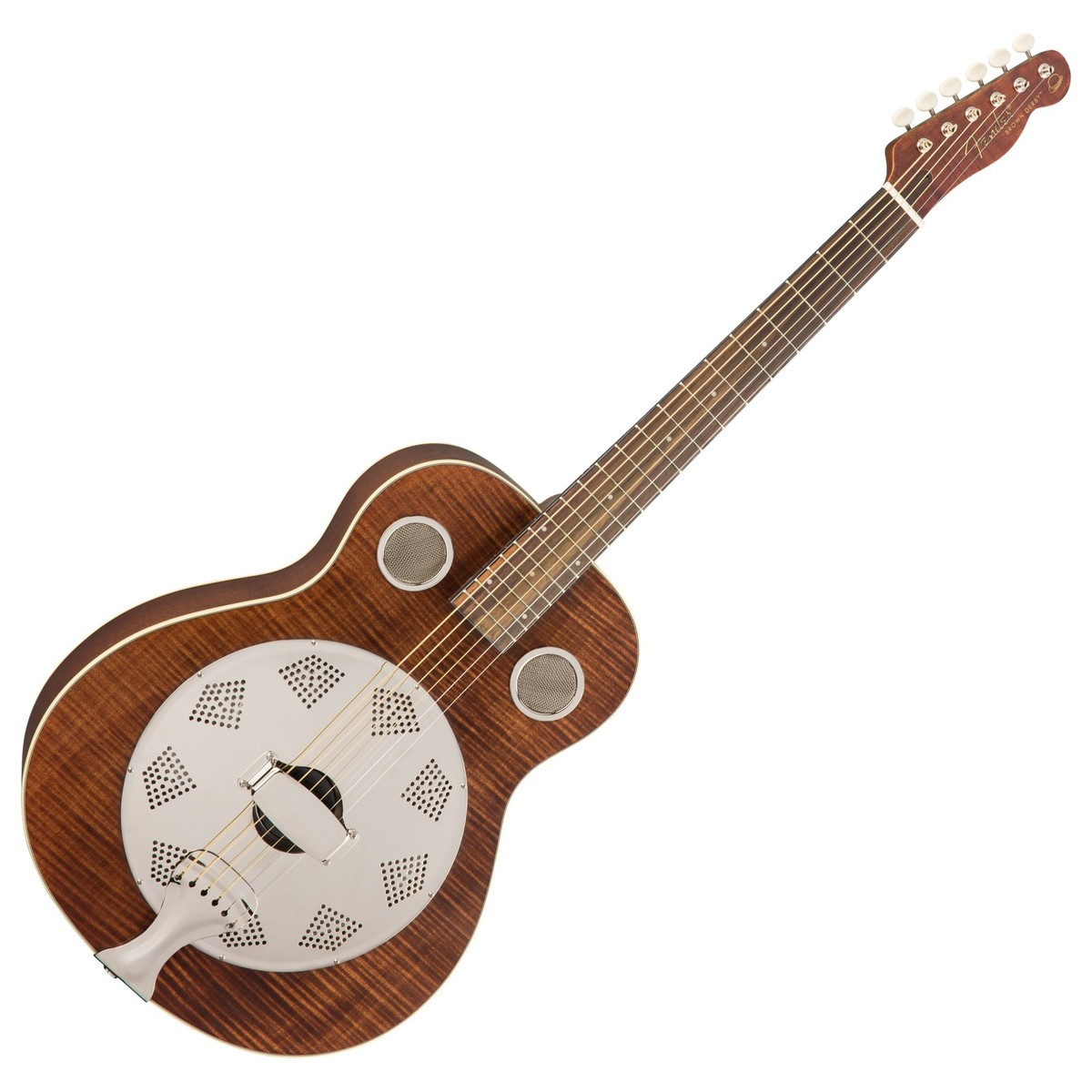 fender brown derby resonator rw brown stain at gear4music. Black Bedroom Furniture Sets. Home Design Ideas