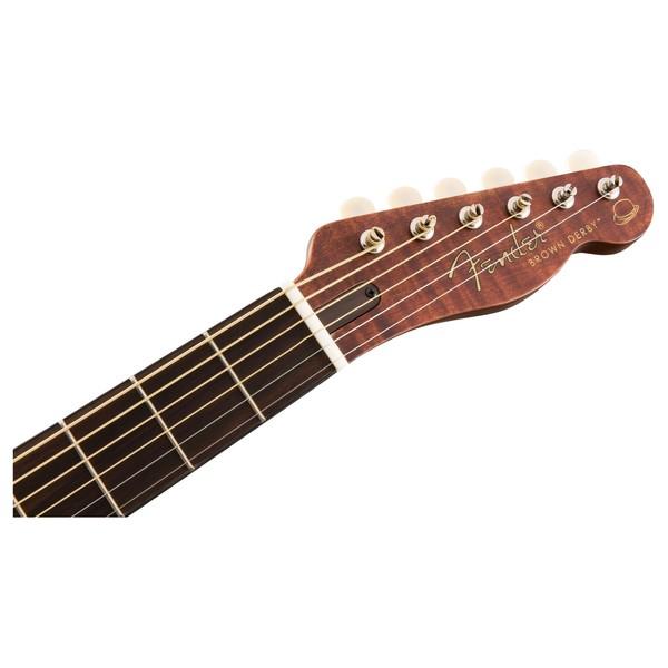 Fender Brown Derby Resonator RW, Brown Stain Headstock