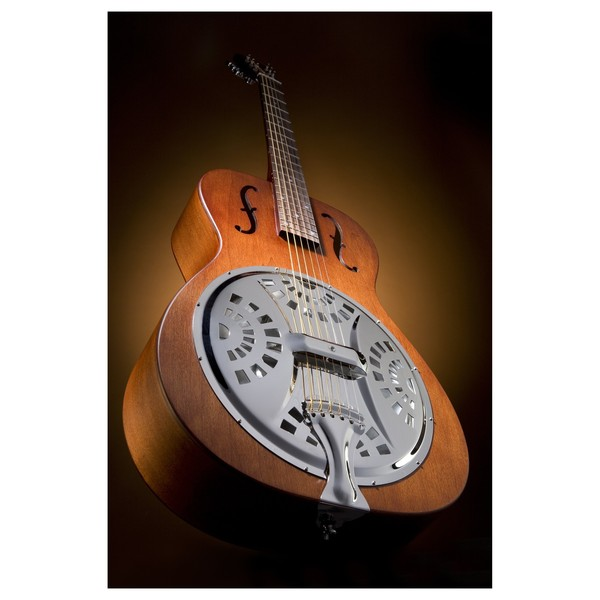 Epiphone Dobro Hound Dog Round Neck Resonator, Vintage Brown