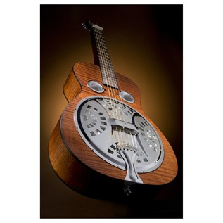 Epiphone Dobro Hound Dog Deluxe Square Neck Resonator, Vintage Brown Lifestyle