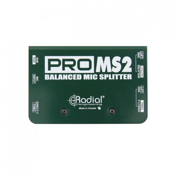 Radial ProMS2 Passive Microphone Splitter - Top View