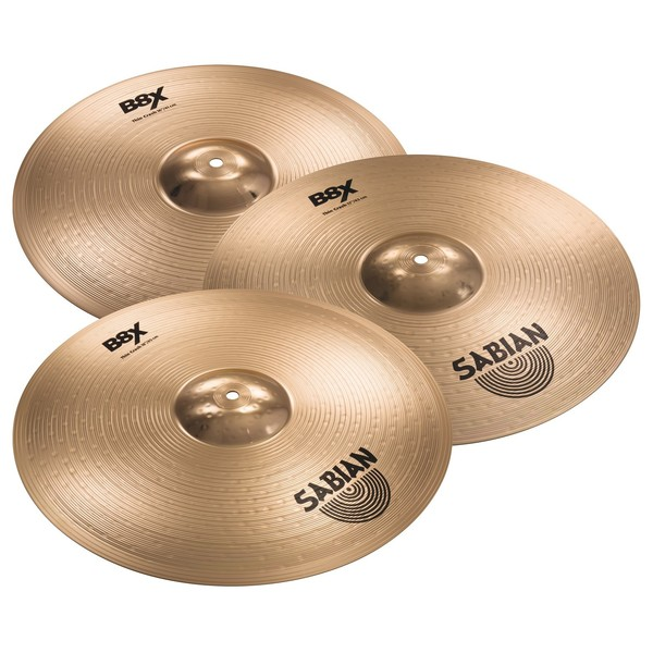 Sabian B8X 16'', 17'' and 18'' Thin Crash Value Bundle main