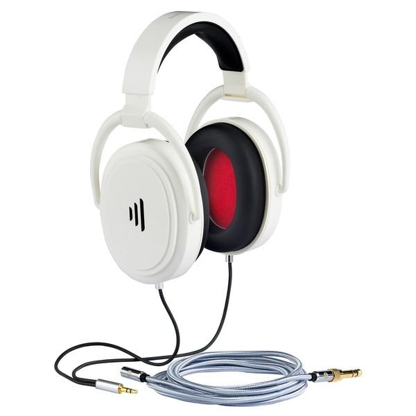 Direct Sound Studio Plus+ Audiophile Isolation Headphones, White - Angled (Main)