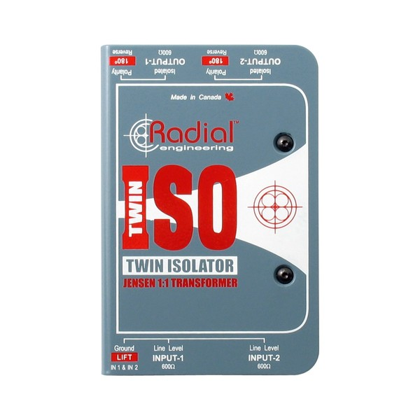 Radial Twin-Iso 2-Channel Line Level Isolator 1