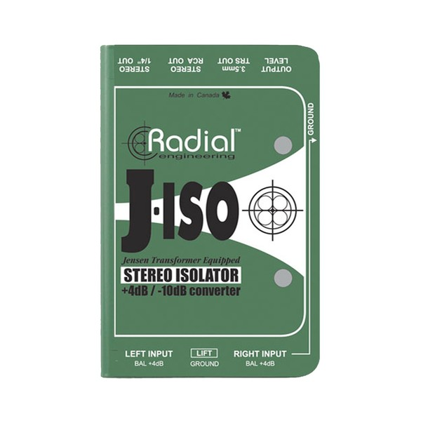 Radial J-Iso Stereo Line Level Isolator & +4dB to -10dB Converter 1