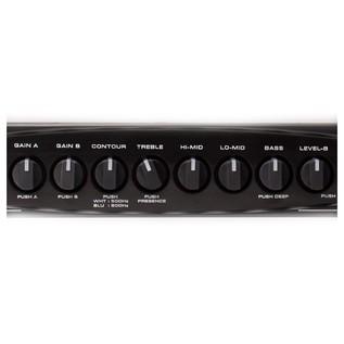 Gallien Krueger MB Fusion 500W Hybrid Bass Amp Head - controls