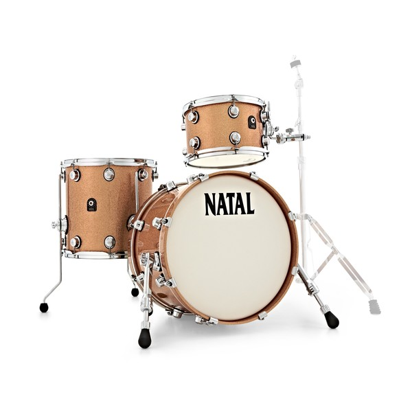 "Natal Café Racer 18"" 3pc Jazz Shell Pack, Champagne Sparkle"
