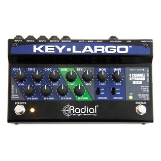 Radial Key-Largo Keyboard Mixer and Performance Pedal 1