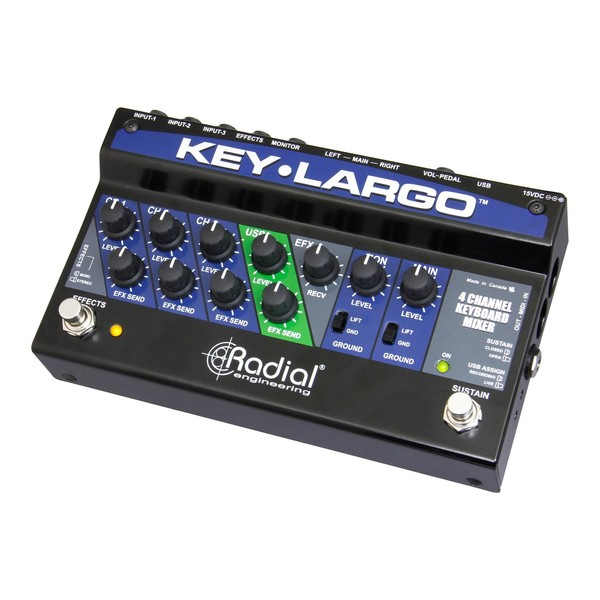 Radial Key-Largo Keyboard Mixer and Performance Pedal 2