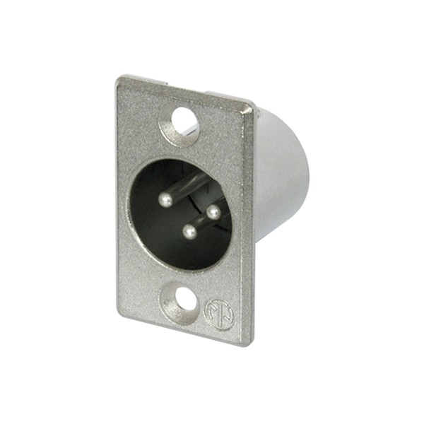 Neutrik NC3MP 3-Pole Male XLR Receptacle, Nickel 1