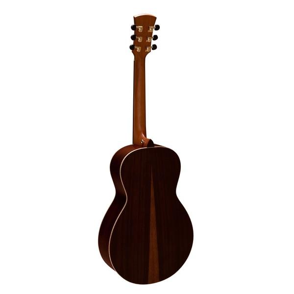 Faith Mercury Scoop Parlour Electro Acoustic, Hi Gloss Natural Back View