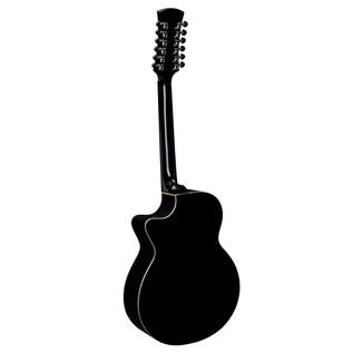 Faith Eclipse Venus 12-String Cutaway Electro Acoustic, Black Back View