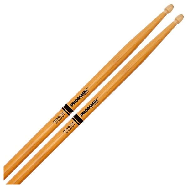 Promark Rebound 5B ActiveGrip Clear Acorn Drumsticks