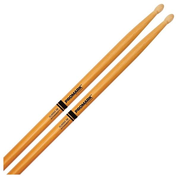Promark Classic 5B ActiveGrip Clear Drumsticks