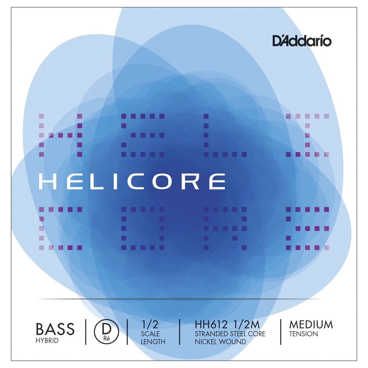 d 39 addario helicore hybrid double bass d string 1 2 size medium at gear4music. Black Bedroom Furniture Sets. Home Design Ideas