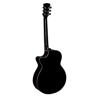 Faith Eclipse Venus Cutaway Electro Acoustic, Black Back View