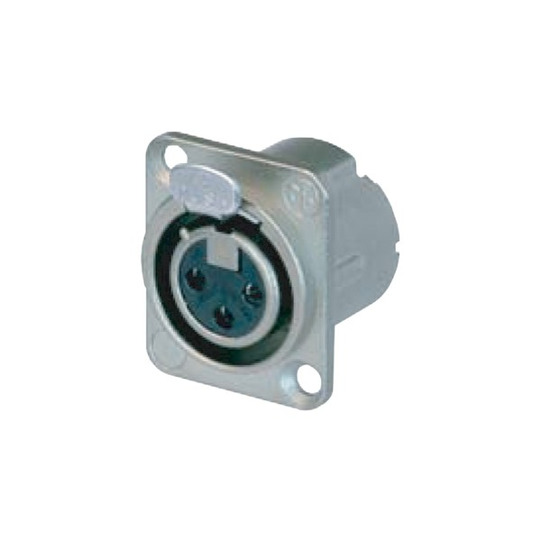 Neutrik NC3FD-LX 3-Pole Female XLR Receptacle, Nickel Housing 1