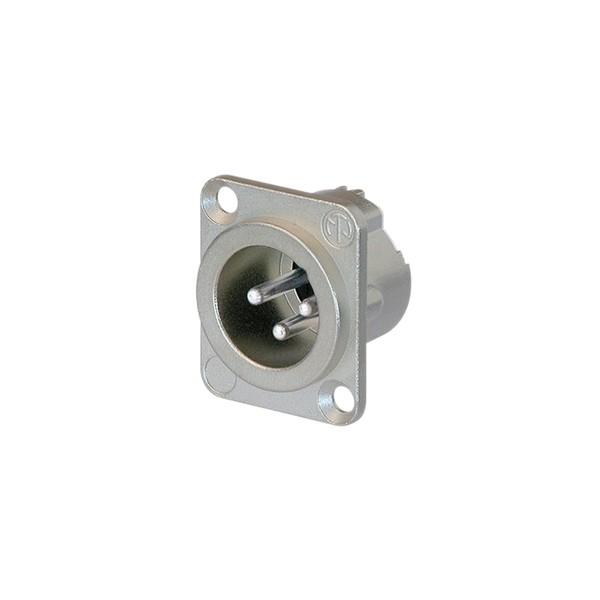 Neutrik NC3MD-LX 3-Pole Male XLR Receptacle, Nickel Housing 1
