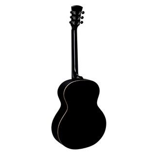 Faith Eclipse Neptune Baby Jumbo Electro Acoustic, Black Gloss Back View