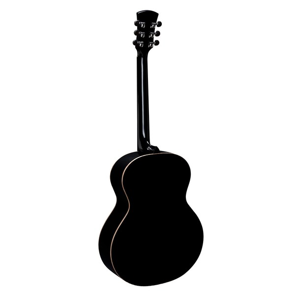 Faith Eclipse Neptune Baby Jumbo Electro Acoustic, Black Gloss Back View
