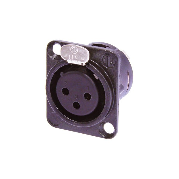 Neutrik NC3FD-L-B-1 3-Pole Female XLR Receptacle, Black Housing 1