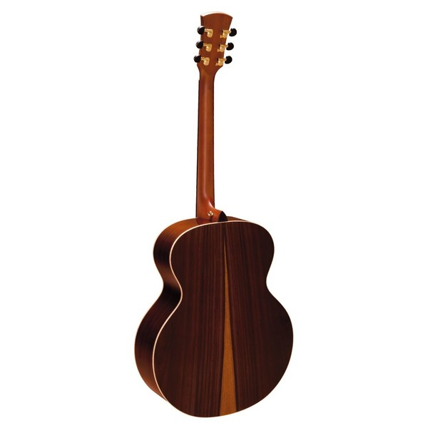 Faith Jupiter Jumbo Acoustic, Hi Gloss Natural Back View