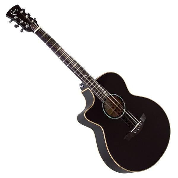 Faith Eclipse Venus Electro Acoustic Left Handed, Gloss Black Front View