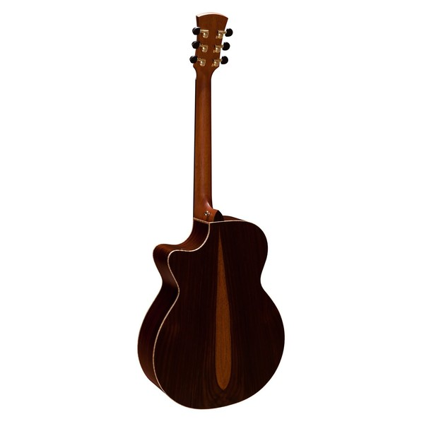 Faith Venus Cutaway Electro Acoustic, Hi Gloss Natural Back View