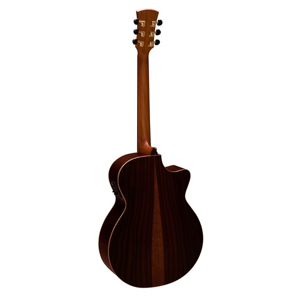 Faith Venus Electro Acoustic Left Handed, Hi Gloss Natural Back View