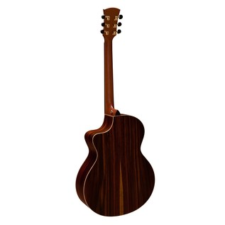 Faith Neptune Baby Jumbo Cutaway Electro Acoustic, Hi Gloss Back View