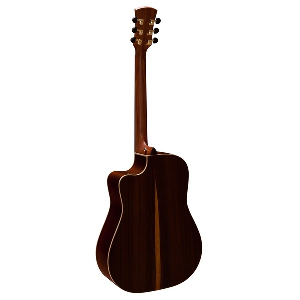 Faith Saturn Dreadnought Cutaway Electro Acoustic, Hi Gloss Back View