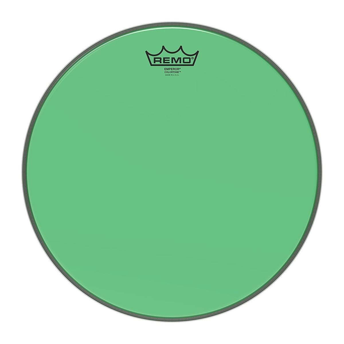 Remo Emperor Colortone Green 14 Drum Head