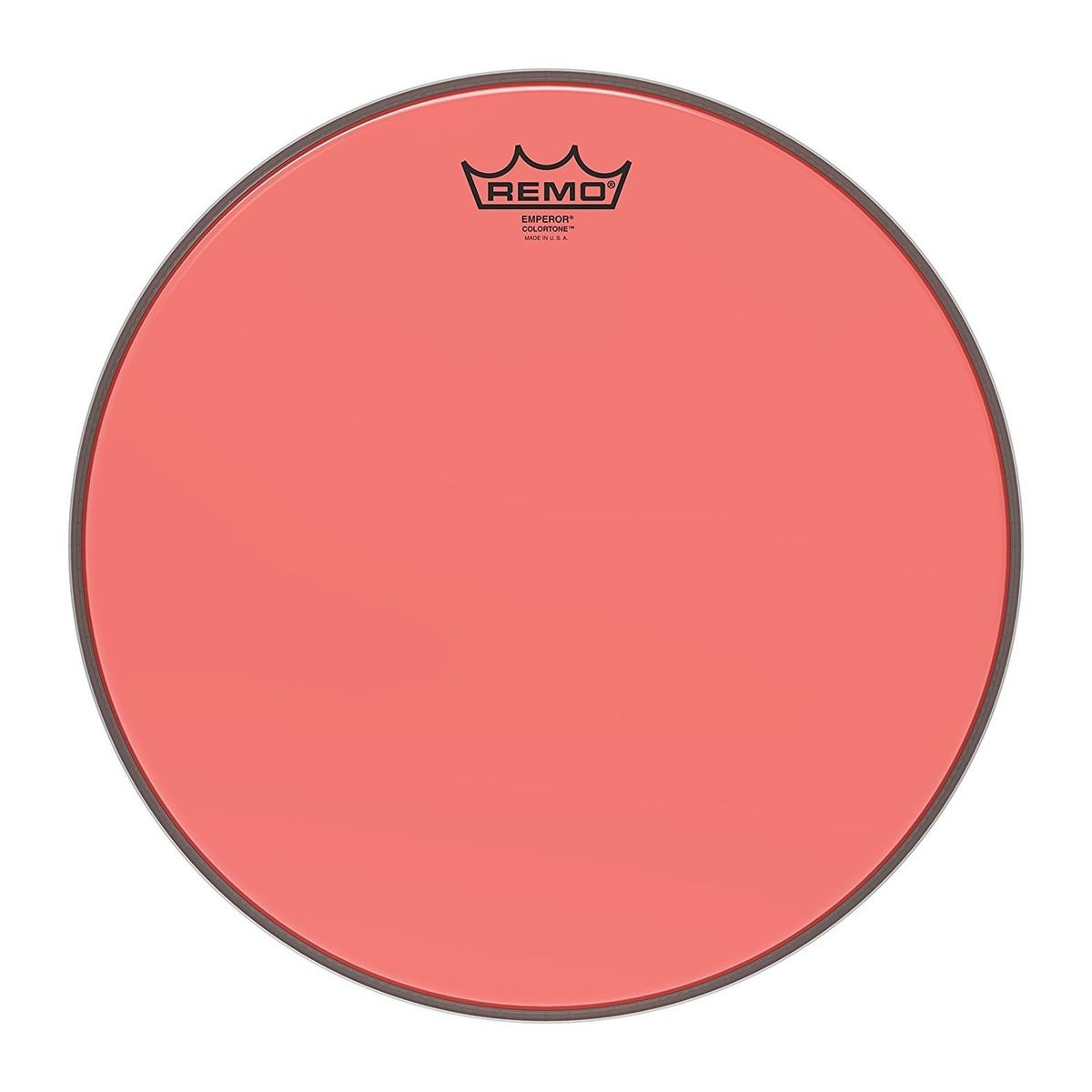 Remo Emperor Colortone Red 14 Drum Head
