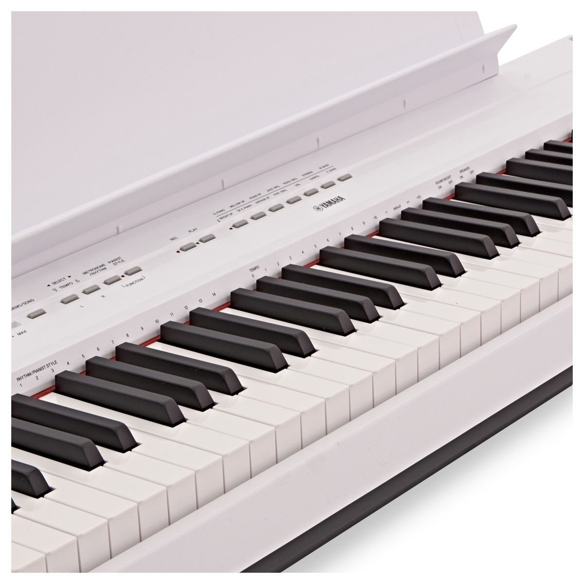 Yamaha p115 digital piano white b stock at for White yamaha piano